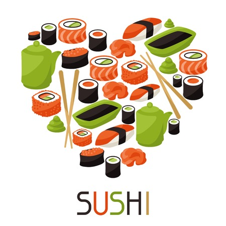 Background with sushi.