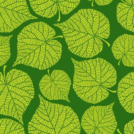 シームレスな自然な緑の葉パターン。  イラスト・ベクター素材