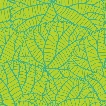 plant cell: Seamless nature pattern with green leaves.