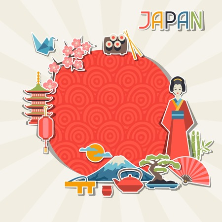 flor de sakura: Japón diseño de fondo.