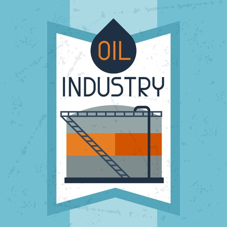 combustible: Oil storage tank background. Illustration