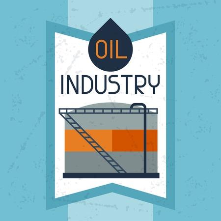 naphtha: Oil storage tank background. Illustration