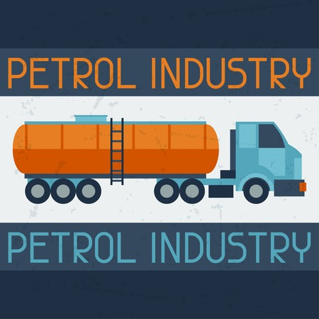 combustible: Petrol truck background.