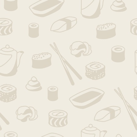 sushi: Seamless pattern with sushi.