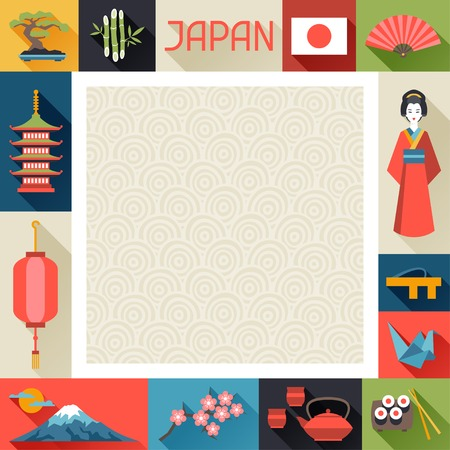 asian culture: Japan background design.