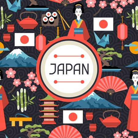 origami pattern: Japan seamless pattern.