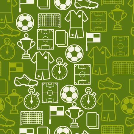 スポーツ サッカー シンボルとのシームレスなパターン。