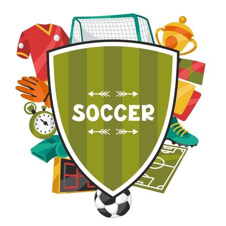 Fond de sport avec des symboles de football de football. Banque d'images - 36803111