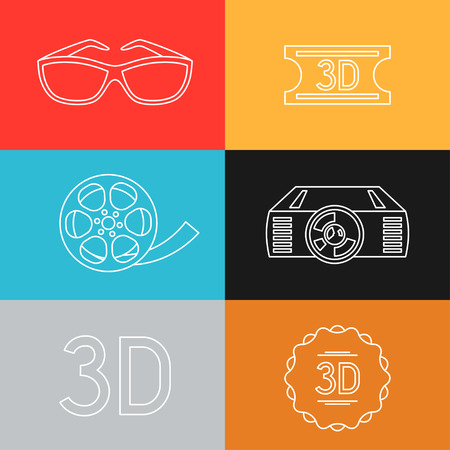 cine: Set of movie design elements and cinema icons