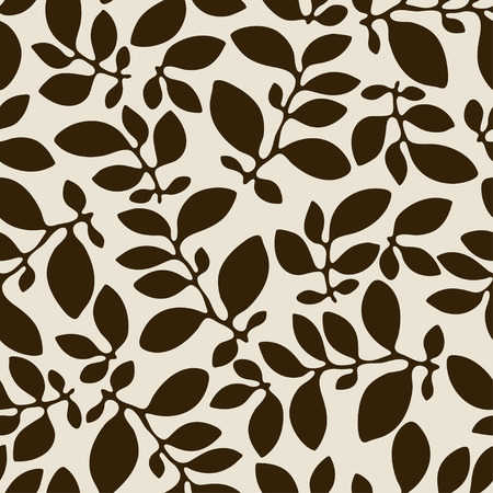nature pattern: Seamless nature pattern with abstract leaves. Illustration