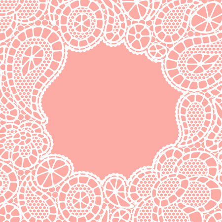 fancywork: Seamless vintage fashion lace pattern with abstract flowers Illustration