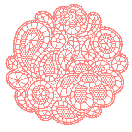 lacework: Vintage fashion lace background with abstract flowers