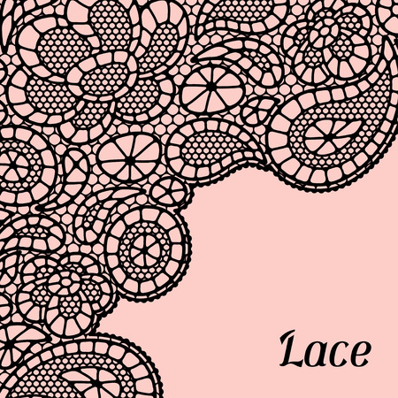 fancywork: Vintage fashion lace background with abstract flowers