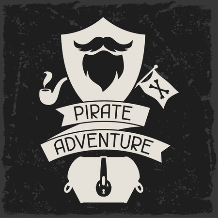 caribbean party: Background on pirate theme with objects and elements