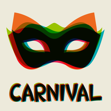 carnival costume: Celebration festive background design with carnival masks Illustration
