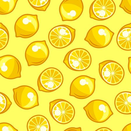limones: Patr�n sin fisuras con los limones maduros frescos estilizados