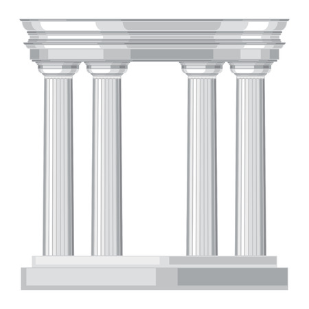 doric: Doric realistic antique greek temple with columns