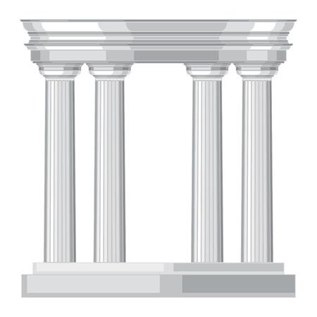 Doric realistic antique greek temple with columns