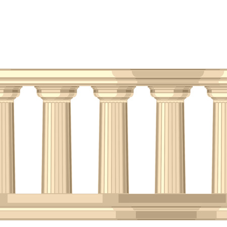 doric: Seamless pattern with doric antique greek colonnade Illustration
