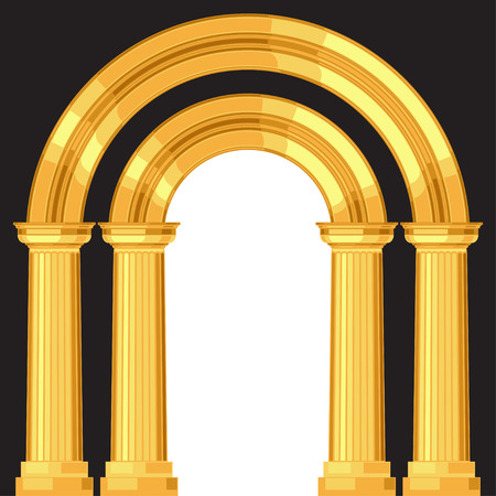 doric: Doric realistic antique greek arch with columns