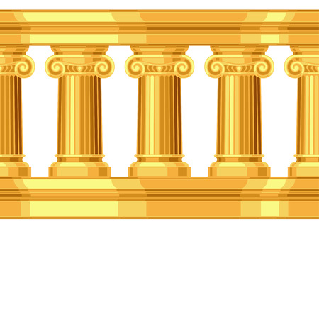 hellenistic: Seamless pattern with ionic antique greek colonnade Illustration