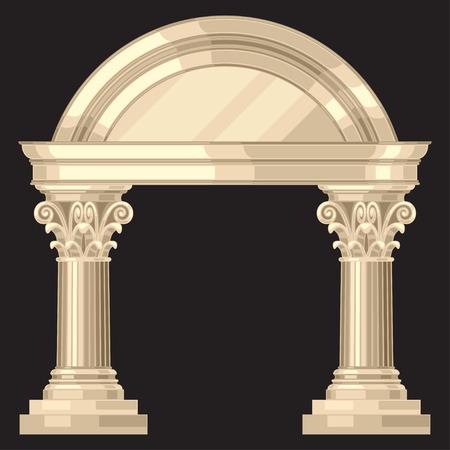 arte greca: Corinthian realistico un antico tempio greco con colonne