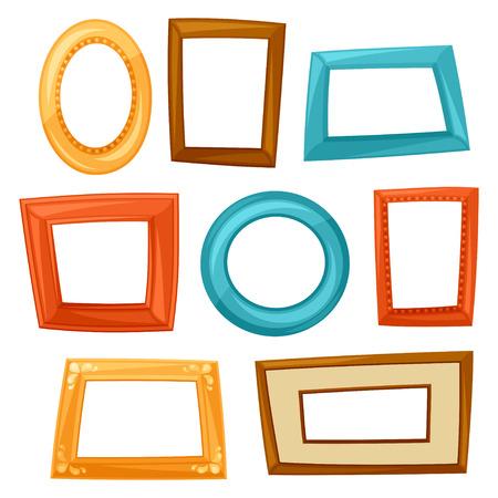 Set van kleur verschillende frames op een witte achtergrond Stockfoto - 40921518