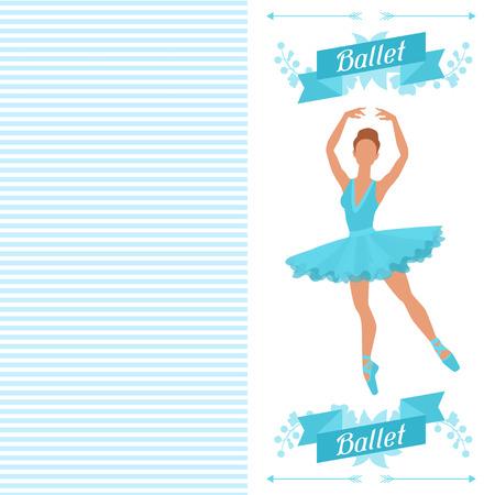 zapatillas ballet: Tarjeta de invitaci�n al espect�culo de danza del ballet con la bailarina.