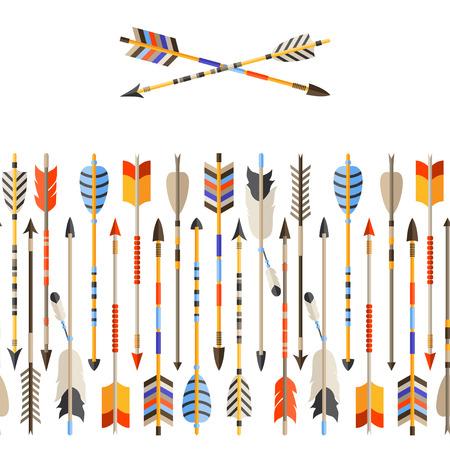aguila americana: Modelo incons�til �tnico con flechas indios en estilo nativo.