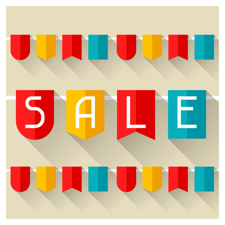 buy icon: Sale and shopping advertising poster in flat design style.