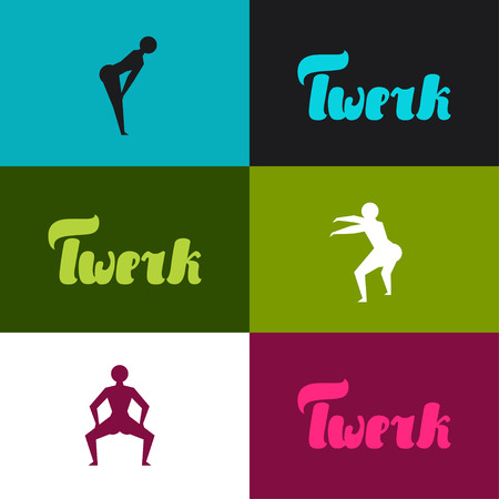 hip hop dance: Twerk and booty dance background for dancing studio.