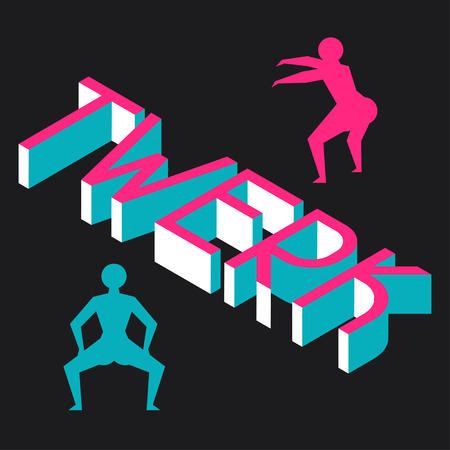 booty: Twerk and booty dance background for dancing studio.