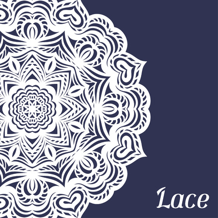 lace doily: Background with hand drawn ornamental round lace doily. Illustration