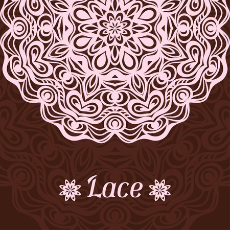 doily: Background with hand drawn ornamental round lace doily. Illustration