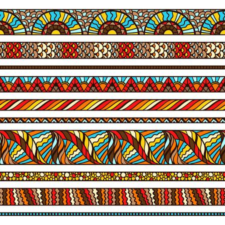 animal print: Diseño de fondo étnico con adornos dibujados a mano. Vectores