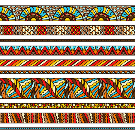 fabric art: Ethnic background design with hand drawn ornament. Illustration