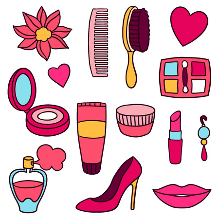fashion set: Beauty and fashion set of cosmetic accessories.