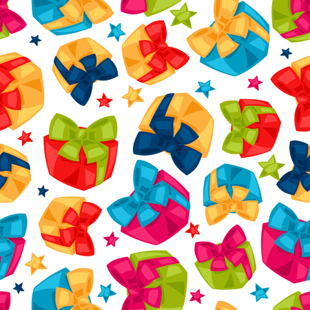 gift pattern: Celebration festive seamless pattern with gift boxes.