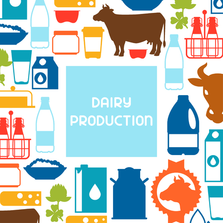twarożek: Milk background with dairy products and objects.