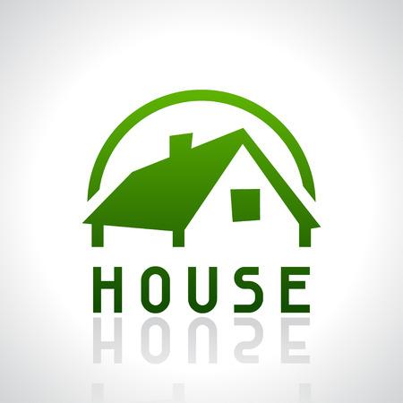 House   template. Real estate design concept. Illustration