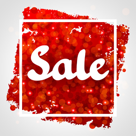 red banner: Sale red abstract background design with glitter.