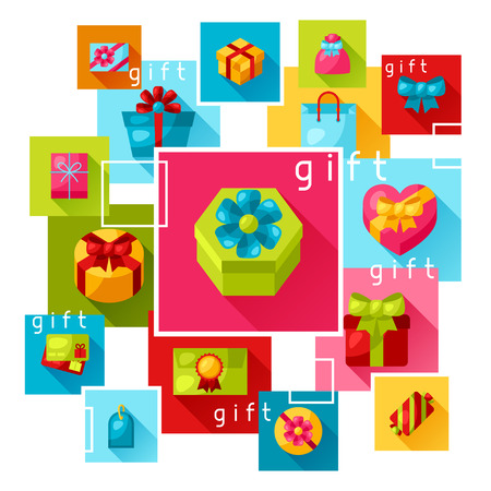 celebration card: Celebration background or card with colorful gift boxes.