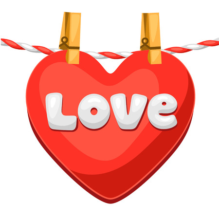 love confession: Greeting card with heart. Concept can be used for Valentines Day, wedding or love confession message.