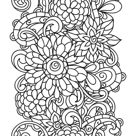 Vector Flower Pattern Elements Abstract Floral Pattern Textile