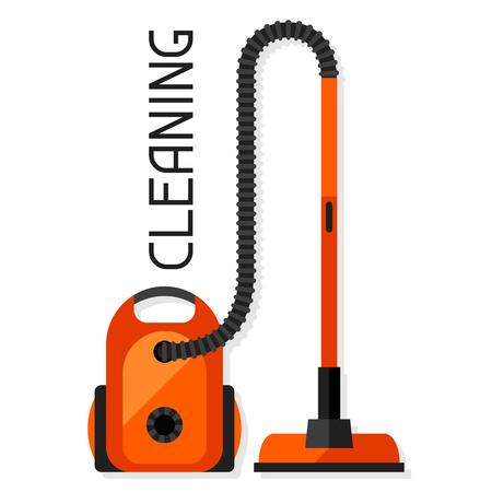 Housekeeping Hintergrund mit Staubsauger. Bild ist auf Werbebroschüren, Bannern, Flyern verwendet werden, Artikel, Social Media.