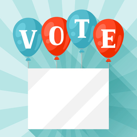appeal: Balloons with appeal vote. Political elections illustration for banners, web sites, banners and flayers.