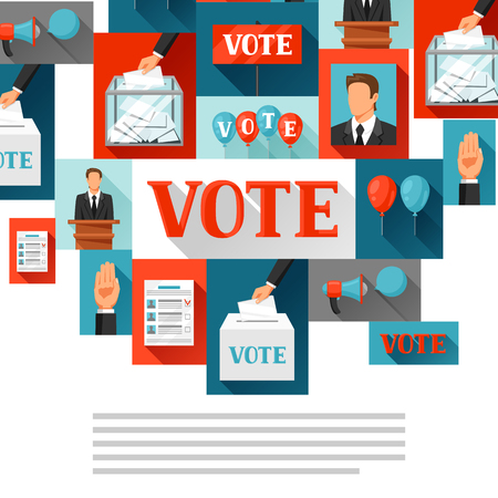Vote political elections background. Illustration for campaign leaflets, web sites and flayers. Illustration