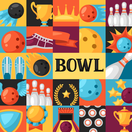 league: Background with bowling items. Image for advertising booklets, banners and flayers.