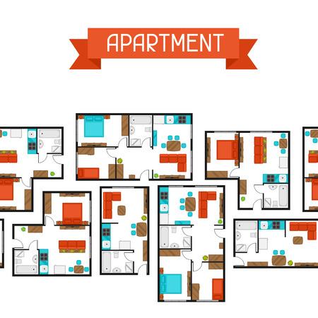 Seamless avec des projets architecturaux de l'appartement et le mobilier.