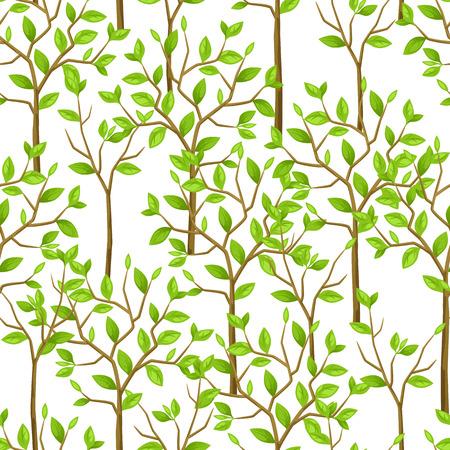 Naadloos patroon met tuin bomen. Achtergrond gemaakt zonder knippen masker. Makkelijk te gebruiken voor de achtergrond, textiel, inpakpapier.